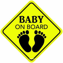Custom Reflective Baby on board Car magnet sticker